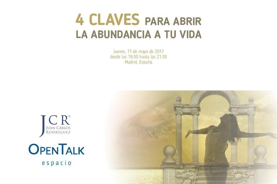 Conferencia-Taller: 4 CLAVES PARA ABRIR LA ABUNDANCIA A TU VIDA